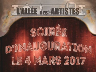 Allee artistes inauguration